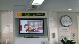 あっと言う間に桜島です、大変便利!