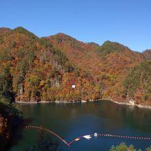 山の紅葉が奇麗