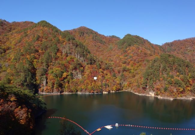 湖面に映る紅葉が奇麗でした