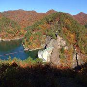 川俣湖、川俣ダム、瀬戸合峡が一望できます