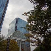 ツインタワーと商業施設