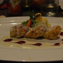 ディナー 鶏むね肉のグリル