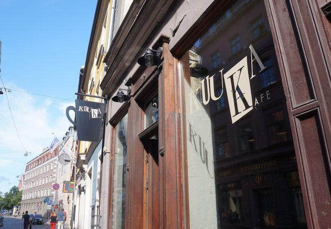 リガ旧市街にあるペストリーカフェ