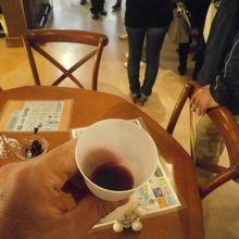 ブドウのジュースを頂けます。