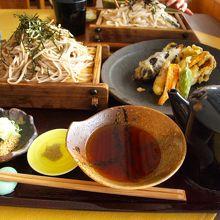天ぷらそばいい味でした