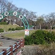 月岡城(現上山城)二ノ丸に出来た公園は眺望良し