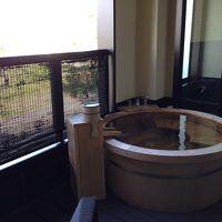 部屋にある露天風呂
