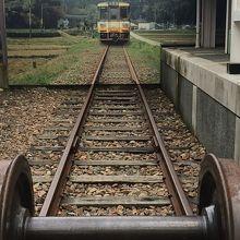 残された線路です。本物の車両があればなお良いのですが