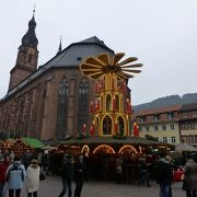 クリスマスマーケットの中心