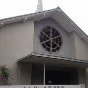 彦根城お堀沿いの綺麗な教会!!