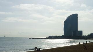 とても広いビーチ