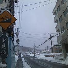坂の入口の様子(小樽駅傍)