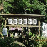 線路沿いにある変わった神社