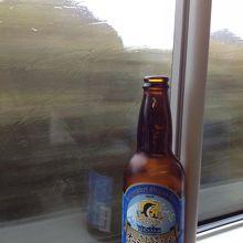 車内で飲んだオーシャンビール
