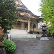 札幌の寺町の一角の寺院