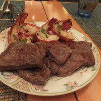 12月31日はオマールエビとステーキのディナー