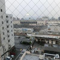 部屋から新山口駅が見えます