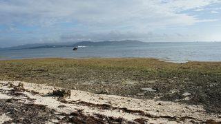 浜というより岩場で磯の生き物多い。来る人は少ない。「御獄」の先にある浜