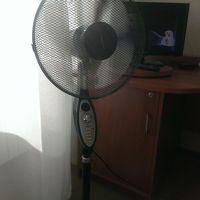 エアコン無く扇風機のある部屋でした