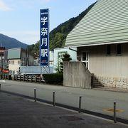 いざ出発、宇奈月駅。