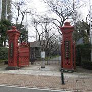 明治時代の優美な鉄門