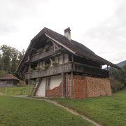 スイス各地の古民家と暮らしぶりのわかる展示
