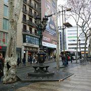 カタルーニャ広場から、ランブラス通りに入ってすぐにあります