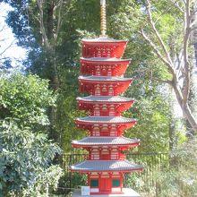 武蔵国国分寺七重塔(推定復元模型、おたかの湧水園内)