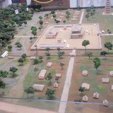 武蔵国分寺復元イメージ模型