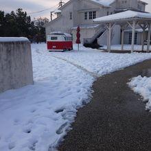 雪の中のジュブリルタン