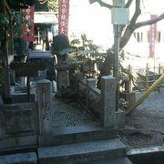 松平摂津の守の上屋敷の跡にできた弁財天です