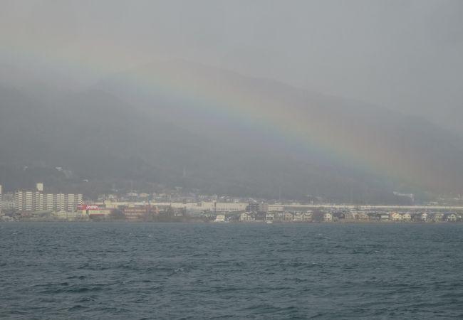 琵琶湖の雪見船