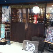 人形町の路地にある手ぬぐいのお店