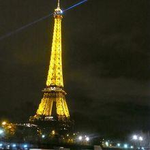 エッフェル塔が見えました