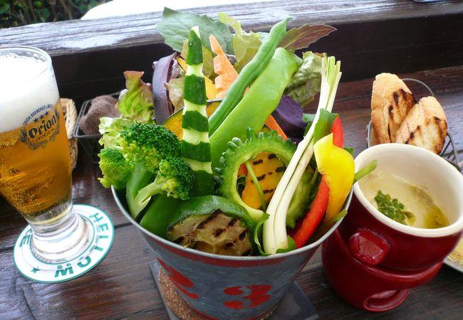 島野菜がてんこ盛り