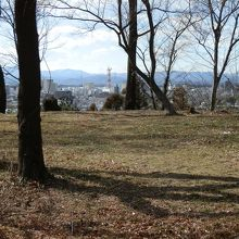 松山城跡、本曲輪から東松山市内を望む。