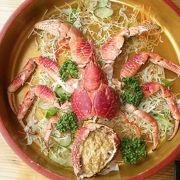 海鮮悟空では、ヤシガニが味わえます。