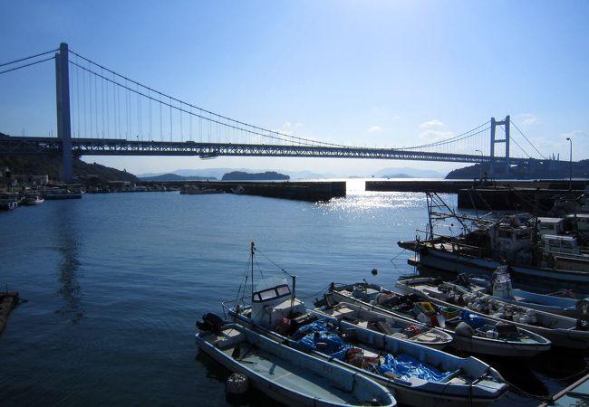 下津井港からの眺め。