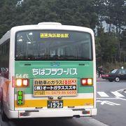 千葉の中心地を走る路線バスです。