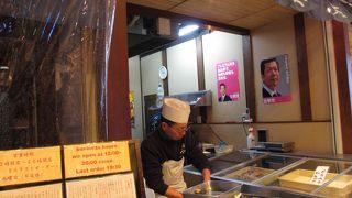 錦市場の穴場、新鮮な生牡蠣が食べられるお店。