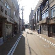 古い町並みが残る