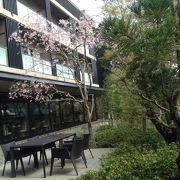 広大な敷地内は緑豊かで和洋中の料理が頂けるレストランが有ります。