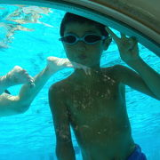 深さ2メートルのプールもある!