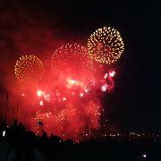 市川市と江戸川区の共同花火大会です