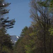 浅間山を見ながら、すがすがしいルートです。