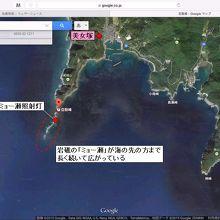 (地図)豆酘崎、ミョー瀬、美女塚