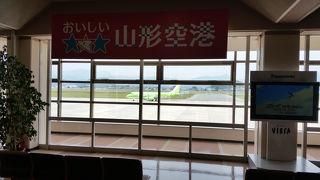 静かな地方空港です。