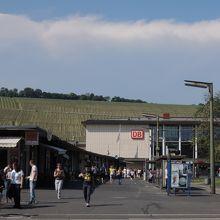 市内からヴュルツブルク駅へ