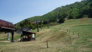 初夏のスキー場