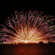40000発の花火が打ち上げられます